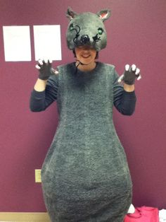 My costume from when I was in a production of the Nutcracker ballet. I played a minion of the Rat King. Rat Costume, Rat King, Nutcracker Costumes, Bait And Switch, Animal Costumes, Halloween 2019, Peaches, Rats, Costume Ideas