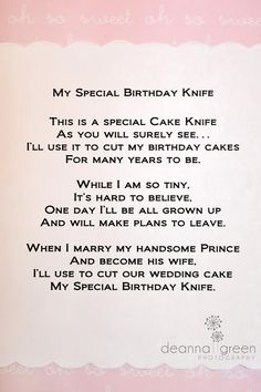 wedding cake knife poem birthday knife poem need to do tomorrow 23025