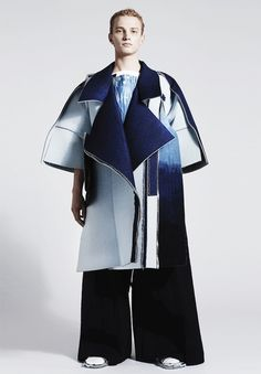 Ximon Lee, A/W 2015 unfinished hems and great use of layering creating brilliant form and sculptural structure. WGSN