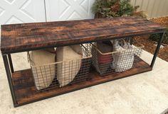 Urban Patina: Industrial Farmhouse Table, Repurposed planks