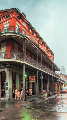 While walking in the rain in the French Quarter of New Orleans may not be the ideal situation, it does make for some nice views.