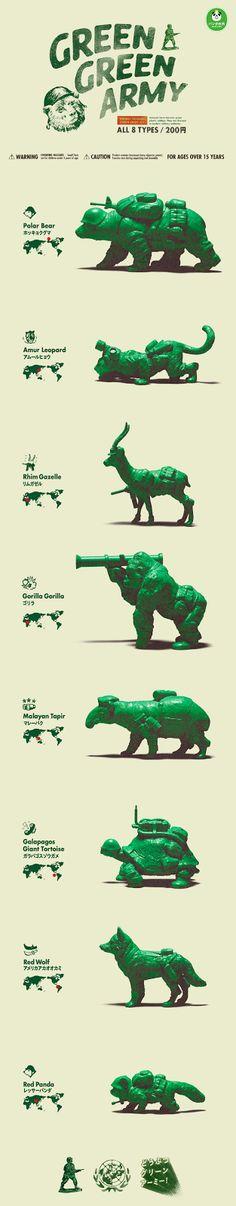 Kaiju Lab: Green Green Army