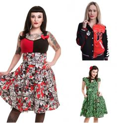 Harley Quinn And Poison Ivy Dresses Are A Girl's Best Friend