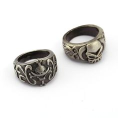 ONE PIECE Ring Ace Whitebeard Hot Anime Vintage Silver Men Women Rings Cosplay male Jewelry Friendship Gift YS11898