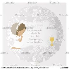 Shop First Communion African American Silver Damask Balloon created by KPW_Invitations. Helium Gas, Photo Balloons, First Communion Invitations, Balloon Shapes, African American Girl, Custom Balloons, First Holy Communion, Invitation Design, Damask