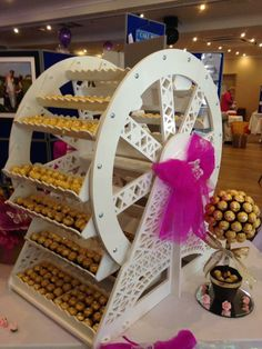 Ferris Wheel Our stunning Ferris Wheel is the only one in DevonStanding a whopping tallAdd elegance to you party with our Fantastic Ferris Wheel C. Candy Table, Candy Buffet, Wooden Crafts, Diy And Crafts, Porta Cupcake, Sweet Carts, Candy Cart, Retro Sweets, Ideas Para Fiestas