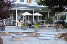 """This summer has been unusually beautiful! Sunny, slightly breezy and not humid! We could not have picked a better year to build a new patio.  Once a week we have """"family dinner night"""". So, the family is gathered and we are having iced tea and a few hors d'oeures before dinner. It's the perfect …"""