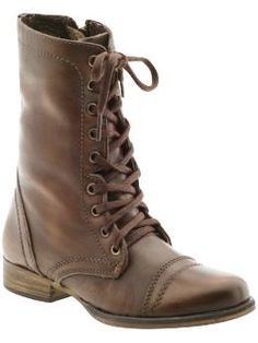 someday i will find and buy the perfect pair of brown leather mid calf lace up boots