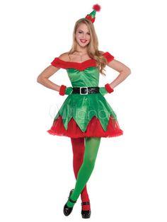 Femme Noël Elf Santa/'s Little Helper Ceinture Déguisement Noël Femmes Robe Swing