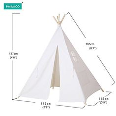 Pericross® Children Teepee Kids Play Tent Indian Tent for Kid Indoor Play Ground Play House Tents Kid Outdoor Garden Tent Diy Kids Teepee, Teepee Play Tent, Teepee Party, Diy Tent, Kids Tents, Teepees, Kids Indoor Play, Indoor Tents, Deco Rose