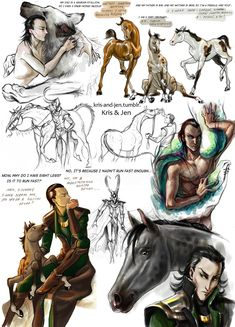Sketch.Loki by jen-and-kris.deviantart.com on @deviantART Loki and his kids are adorable