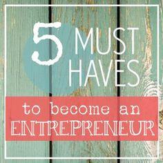 On Being an Entrepreneur