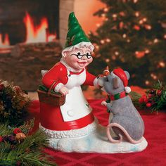 Mrs. Claus Gnome - TerrysVillage.com
