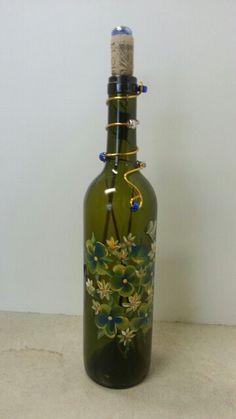 wine bottle stick incense burner blue clear gold olive green glass diy basteln diy deko und. Black Bedroom Furniture Sets. Home Design Ideas