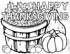 Happy Thanksgiving Coloring Activity Pages | Happy Thanksgiving 3- Coloring Page « Crafting The Word Of God