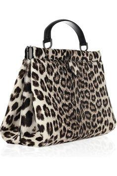 Alaia Leopard print calf hair bag 1