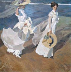 Joaquin Sorolla Strolling along the Seashore 1909