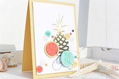SirHenry's: #ananas #pineapple #card #birthday #geburtstag #stampinup #su #cameo #goldfoil #geburtstagskarte