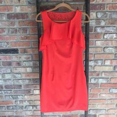 Bissou Bissou Dress Burnt orange/red Bissou bissou dress. Worn once for wedding. Bisou Bisou Dresses Midi