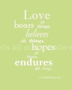 Items similar to Bible Verse Art 1 Corinthians Love Light Green with White Text on Etsy Bible Verse Art, Bible Scriptures, Bible Quotes, Me Quotes, Sweet Quotes, Love Is, Gods Love, Favorite Bible Verses, Favorite Quotes