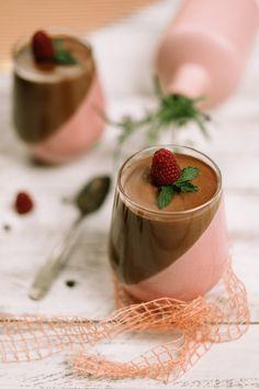 Málnás-csokoládés pohárkrém recept