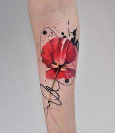 @dopeindulgence-tatuaje flor roja