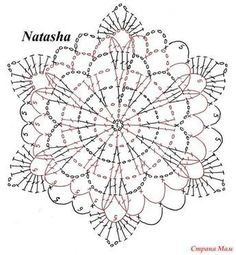 Photo from album Mandala Au Crochet, Crochet Snowflake Pattern, Crochet Motif Patterns, Crochet Stars, Crochet Snowflakes, Crochet Diagram, Crochet Designs, Crochet Stitches, Crochet Tablecloth