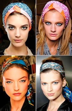 No matter how you wear it, a head scarf is always a great ways to wear to transform any outfit and add a pop of color!