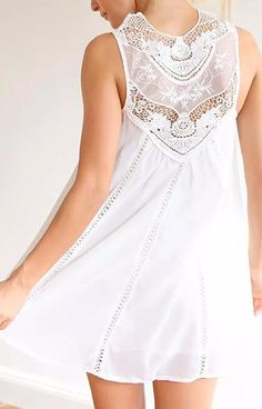 Vintage Lace White Dress – Trendy Road