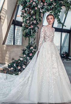 61b30ed631 tony ward mariee 2019 long sleeves bateau neck full embellishment romantic  princess a line wedding dress royal train mv -- Tony Ward La Mariée Spring  2019 ...
