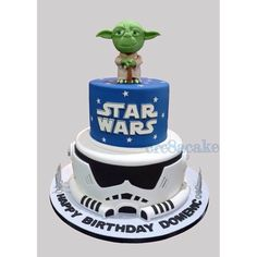 Star Wars Yoda Birthday Cake Star Wars Birthday, Star Wars Party, 10th Birthday, Birthday Ideas, Birthday Parties, Happy Birthday, Birthday Cake, Star Wars Cupcakes, Silhouette Cameo