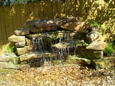 Waterfall inspiration... the rock would be good for butterflies. Maybe pools of water built higher for the birds?