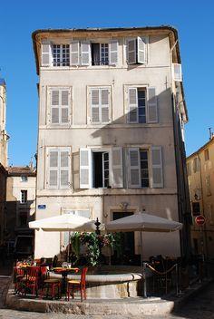 A Plaza in Aix-en-Provence, South of France http://www.nyhabitat.com/blog/2011/10/25/short-movies-aix-en-provence/