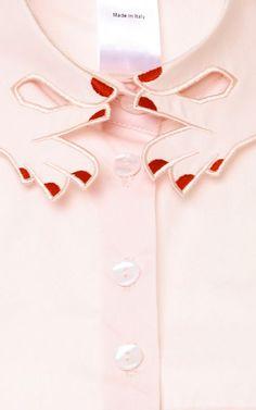 Hands Embroidered Collar by Vivetta - Moda Operandi. So Lovely!