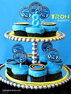 Tron Birthday Party  Designed by Amy Locurto at LivingLocurto.com