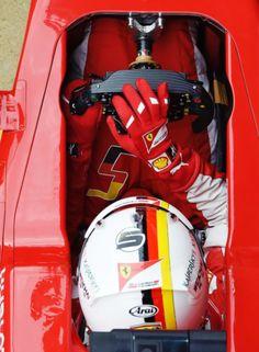 Sebastian Vettel in Ferrari