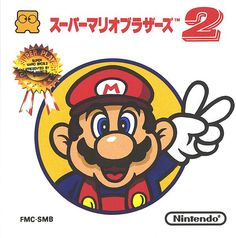 "The Lost Levels box art shows Mario holding the two-finger V sign inside an inscribed circle. Above, red Japanese text reads the title text: ""Super Mario Bros. The Nintendo logo and an award ribbon are displayed in opposite corners. Super Mario Bros, Super Mario Brothers, Playstation, Super Nintendo Games, Pc Engine, Video Game Collection, Retro Videos, Mario Bros., Mario Party"