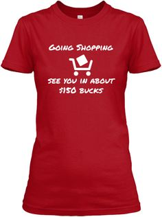Funny Shopping Tee Shirt #shopping