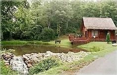 Murphy Vacation Rental - VRBO 7569 - 2 BR Smoky Mountains Cabin in NC, Bear Necessity Log Cabin - Trout Pond, Waterfall