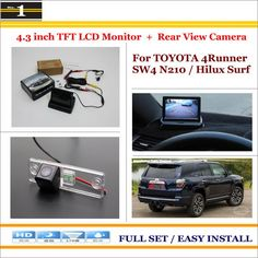 """For Toyota 4Runner SW4 / Hilux Surf 2002~2010 - Car Reverse Rear Camera + 4.3"""" TFT LCD Monitor = 2 in 1 Parking System"""