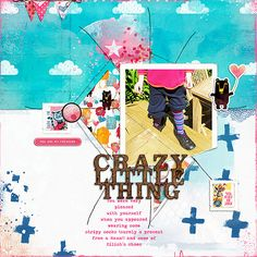 Crazy Socks using Crazy Little Thing from Lynn Grieveson Designs at The Lilypad