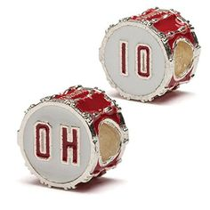Ohio State OHIO Bead Charm Drum Set  For Bracelet or Necklace  Stainless Steel ** Want additional info? Click on the image.(This is an Amazon affiliate link and I receive a commission for the sales)
