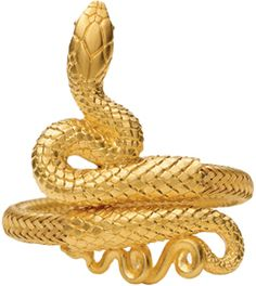 Egyptian Snake Bracelet.  Because animal jewelry is fun and this snake looks legit.