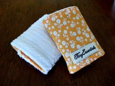 Orange and White Floral Infant Carseat Strap by TinyEssentials