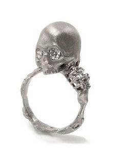 gorgeous skull ring #jewellery #jewelry #skull #ring