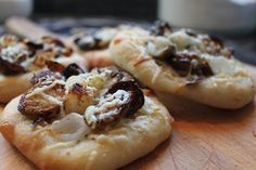 Roasted Brussels Sprout Mini Pizzas