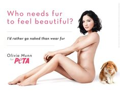 Olivia Munn for PETA. Pinned @✨SameeraHeart✨