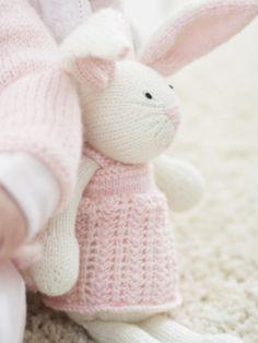 Schnuckeliges Häschen zum Selbermachen Zoe Bunny - Free Knitting Pattern -PDF File