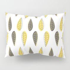Retro Leaves Pattern Pillow Sham