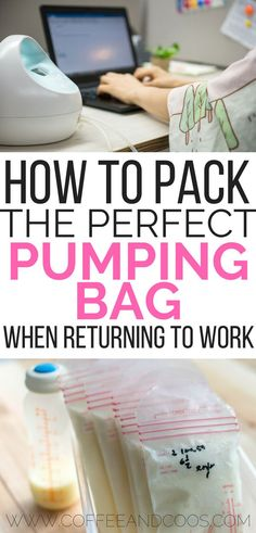 How to pack the perfect pumping bag! A complete list for breastfeeding working moms. Make pumping at work so much easier with these must have items for pumping mom success! baby breastfeeding baby infants baby quotes baby tips baby toddlers Pumping Bag, Pumping At Work, Lamaze Classes, After Baby, Return To Work, Pregnant Mom, First Time Moms, Breastfeeding Tips, Breastfeeding Problems